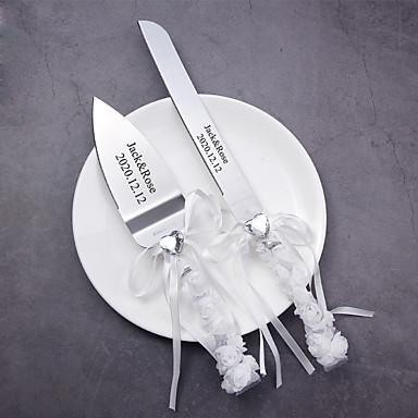 povoljno Svadbeni pir-Smola / Svilena tkanina / nehrđajući Vjenčanje / Rođendan 1 set / PP Bag Noževi / Lopata / Bakeware