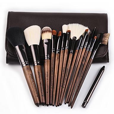 cheap Makeup Brush Sets-Professional Makeup Brushes 15pcs Soft Cool Wooden / Bamboo for Foundation Brush Eyeshadow Brush Makeup Brush Set