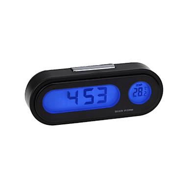 levne Doplňky do interiéru-auto elektronické hodiny teploměr světelný teploměr modrý led teploměr harmonogram