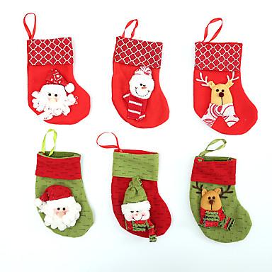 Vintage Baseball American Flag Santa Xmas Socks 2Pcs Set Christmas Stockings Decorations