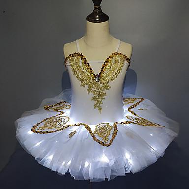 Ballet LED Lag-på-lag Tutu Bubble skjørt Under skjørt Jente Barne Tyll Kostume Hvit / Himmelblå / Rosa Vintage Cosplay Fest Halloween Prinsesse / Kjole / Kjole