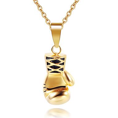 levne Pánské šperky-Pánské Náhrdelníky s přívěšky Chrome Černá Bronzová Stříbrná 50 cm Náhrdelníky Šperky 1ks Pro Denní