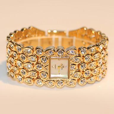preiswerte Quadratische und Rechteckige Uhren-Damen Quartz Uhr Luxus Elegant Silber Gold Rotgold Edelstahl Quartz Rotgold Gold Silber Wasserdicht 30 m 1 Stück Analog Ein Jahr Batterielebensdauer