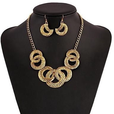 voordelige Dames Sieraden-Dames Druppel oorbellen Ketting Stijlvol oorbellen Sieraden Goud Voor Dagelijks 1 set