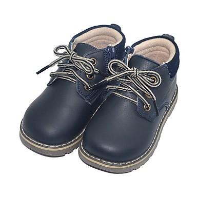 preiswerte Schuhe für Kinder-Jungen Springerstiefel Leder Stiefel Kleine Kinder (4-7 Jahre) Gelb / Blau Herbst / Mittelhohe Stiefel