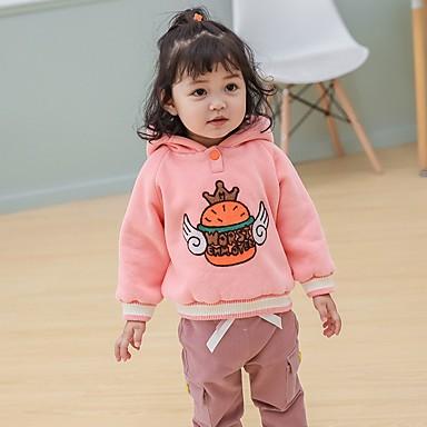 preiswerte Kapuzenpullover & Sweatshirts für Babys-Baby Mädchen Grundlegend Druck Langarm Kapuzenpullover Rosa