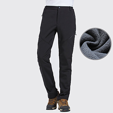 cheap Under €19-Men's Hiking Pants Softshell Pants Winter Outdoor Thermal / Warm Waterproof Windproof Breathable Pants / Trousers Bottoms Camping / Hiking Hunting Ski / Snowboard Black Dark Green Gray S M L XL XXL