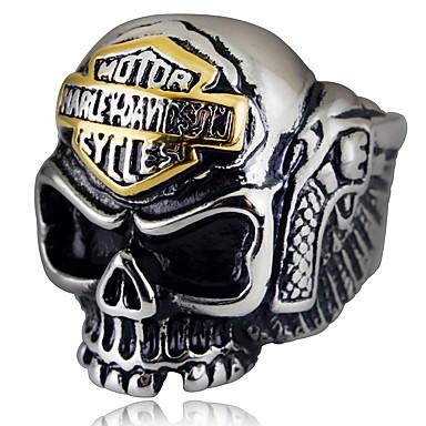 levne Pánské šperky-Pánské Prsten 1ks Stříbrná Slitina nepravidelný Vintage Geleneksel Gothic Denní Šperky Retro styl Lebka
