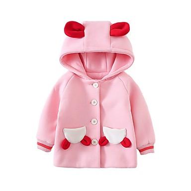 povoljno Odjeća za bebe-Dijete Djevojčice Osnovni Voće Jakna i kaput Blushing Pink