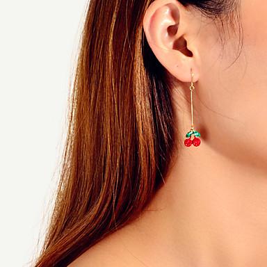 povoljno Modne naušnice-Žene Naušnica Tropical Višnja Stilski Umjetnički slatko Moderna Slatka Style Imitacija dijamanta Naušnice Jewelry Light Red Za Vjenčanje Party diplomiranje Dnevno Prom 1 par