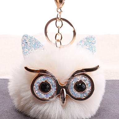 cheap Keychains-Keychain Owl European Korean Fashion Ring Jewelry Black / White / Light Green For Gift Daily