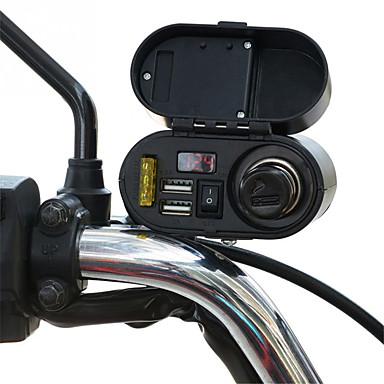 povoljno Motori i quadovi-motocikl vodootporan punjač utičnica 5v 3.1a dual usb utičnica prekidač automobila vodio digitalni prikaz voltmetar upaljač za cigarete