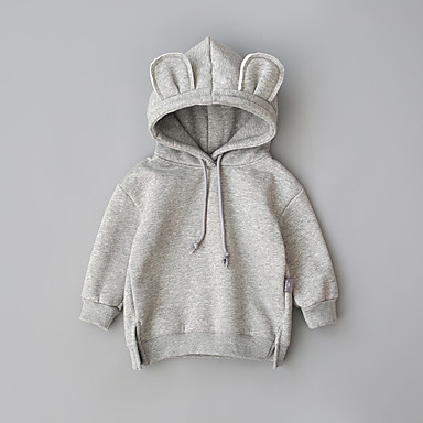 povoljno Odjeća za bebe-Dijete Djevojčice Aktivan Jednobojni Normalne dužine Odijelo i sako Svijetlosiva