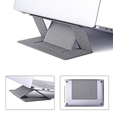 cheap Computer Peripherals-LITBest Portable Bracket Invisible Laptop Stand Holder Ultra-thin Seamlessly Detachable Adjustable Notebook Riser Compatible with MacBook Air Pro Tablets and Ultrabook up to 15.6 Inch