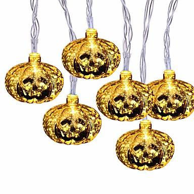 Halloween φώτα σειράς 2m 10 οδήγησε λαμπερό Jumbo κολοκύθες λαμπτήρες διακόσμηση για υπαίθρια εσωτερική αποκριών Χριστουγεννιάτικο πάρτι φεστιβάλ