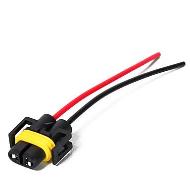billige Automotiv-2stk h11 / h8 stikkontakt for stikkontakt for kvinnelig hode med ledningsnett kraftig adapter