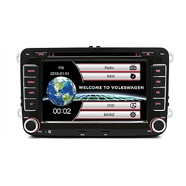 billige Bil Elektronikk-junsun 2531 7inch 2din windows ce in-dash bil dvd-spiller / bil mp5 spiller / bil mp4 spiller gps / mp3 / innebygd bluetooth for volkswagen skoda sete yeti støtte avi / wmv / asf mp3 / wma