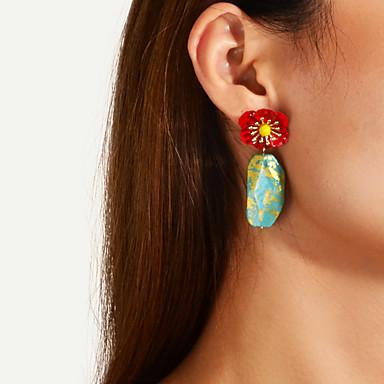 voordelige Dames Sieraden-Dames Druppel oorbellen Zin in hebben Bloem Stijlvol Modieus Elegant oorbellen Sieraden Groen Voor Feest 1 paar