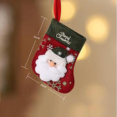 ตกแต่งวันคริสมาสต์ อุปกรณ์งานคริสต์มาส สุนัข Santa Suits Elk สิ่งทอ Toy ของขวัญ 2 pcs