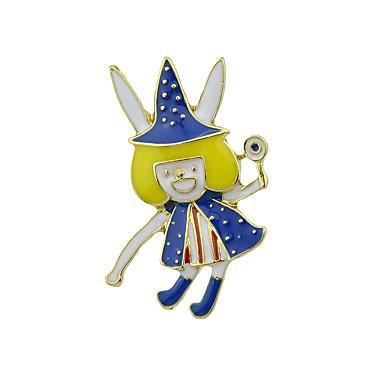 levne Dámské šperky-Dámské Brože Smát se Prohlášení stylové Jedinečný design Punk Brož Šperky Modrá + žlutá Pro Halloween Denní Karneval Festival