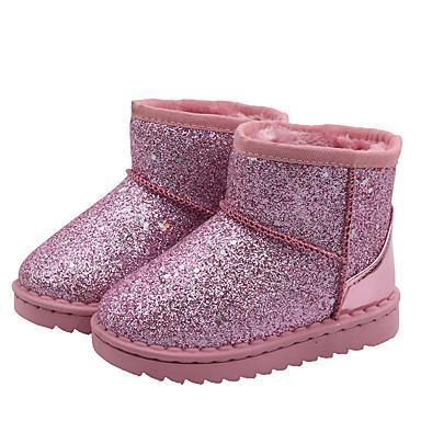 preiswerte Schuhe für Kinder-Mädchen Schneestiefel PU Stiefel Kleine Kinder (4-7 Jahre) / Große Kinder (ab 7 Jahren) Schwarz / Rosa Herbst / Winter