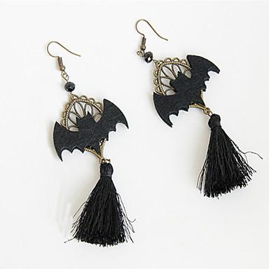 Mulheres Brincos Compridos Brinco Franjas Morcego Vintage Desenho