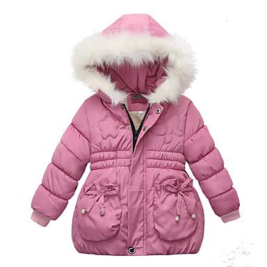 povoljno Vanjska odjeća za bebe-Dijete Djevojčice Osnovni Jednobojni Dugih rukava Pamuk Pernata i pamučna podstava Blushing Pink / Dijete koje je tek prohodalo