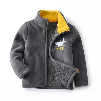 povoljno Odjeća za dječake-Djeca Dječaci Aktivan Print Jakna i kaput Fuksija
