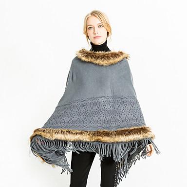 levne Novinky-Dámské Aktivní / Cute Style Obdélníkový šátek - Jednobarevné