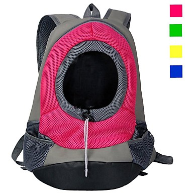 cheap Cat Beds & Carriers-Cat Dog Carrier Bag & Travel Backpack Cat Backpack Portable Breathable Solid Colored Nylon puppy Small Dog Purple Yellow Red