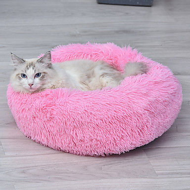 cheap Cat Beds & Carriers-Dog Rabbits Cat Bed Beds Mats & Pads Plush Solid Colored White Purple Yellow