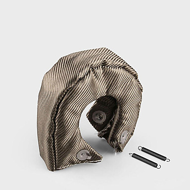 cheap Automotive-T3 Titanium Lava Fiber Turbo Blanket Heat Shield Barrier Turbocharger Cover Wrap