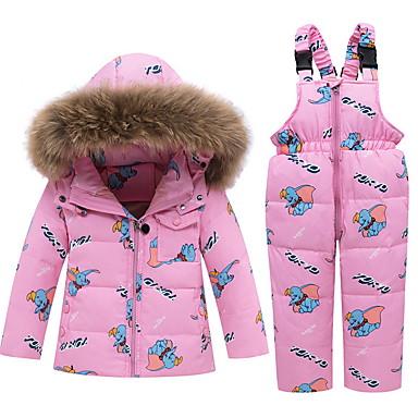 povoljno Odjeća za bebe-Dijete Djevojčice Ulični šik Print Print Dugih rukava Regularna Komplet odjeće Crn