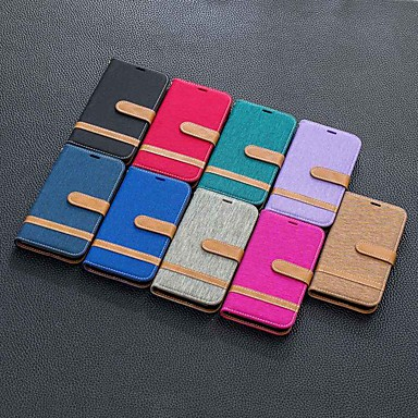 cheap iPhone Cases-Case For Apple iPhone 11 / iPhone 11 Pro / iPhone 11 Pro Max Wallet / Card Holder / with Stand Full Body Cases Tile Textile For Apple iPhone XS/X/XR/XS Max/7/8 Plus/6/6s Plus/5/5s/SE