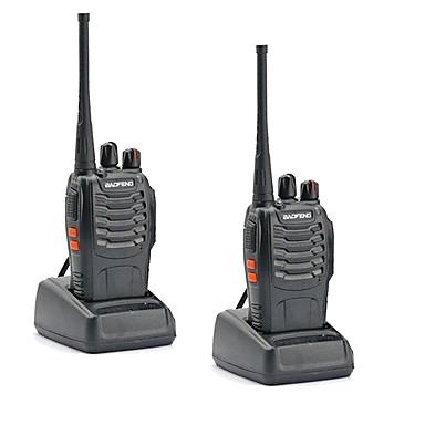baratos Walkie Talkies-2 pcs walkie talkie baofeng bf-888s 16ch uhf 400-470mhz baofeng 888s radioamador transceptor hf intercomunicador amador amador qualidade de som super