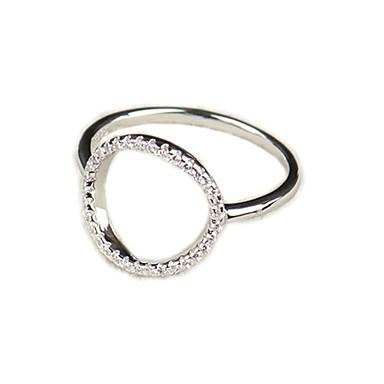 billige Motering-Dame Ring 1pc Hvit Kobber Sirkelformet Grunnleggende Koreansk Mote Festival Smykker Bokstaver Smuk