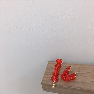 povoljno Naušnice-Žene Naušnica Klasičan Radost Naušnice Jewelry Zelen / Crvena Za Dar Dnevno Festival 1 par