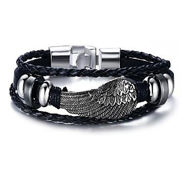 voordelige Herensieraden-Heren Lederen armbanden meetkundig Stijlvol Legering Armband sieraden Zilver Voor Dagelijks