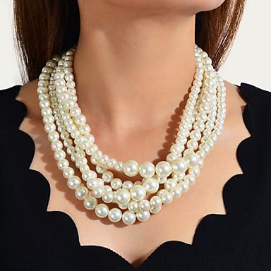 povoljno Modne ogrlice-Žene Igazgyöngy nyaklánc Posude slatko Moderna Imitacija bisera Krom Obala 49 cm Ogrlice Jewelry 1pc Za Angažman