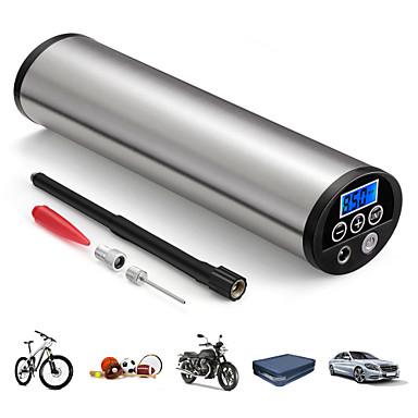 お買い得  カーインテリアアクセサリー-150psiミニインフレータ電動ポータブルカー自転車ポンプ電動自動空気圧縮機ポンプeuプラグ付き液晶ディスプレイ