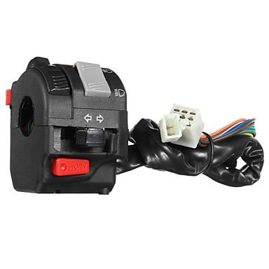 preiswerte Schalterelektronik fürs Auto-12 v motorrad scheinwerfer startschalter horn blinker für 7/8 zoll 22mm lenker links