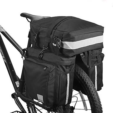 preiswerte Radtaschen-37 L Fahrrad Kofferraum Tasche / Fahrradtasche Tragbar tragbar Reflexstreiffen Fahrradtasche Nylon 600D Polyester Tasche für das Rad Fahrradtasche Radsport Outdoor Übungen Fahhrad