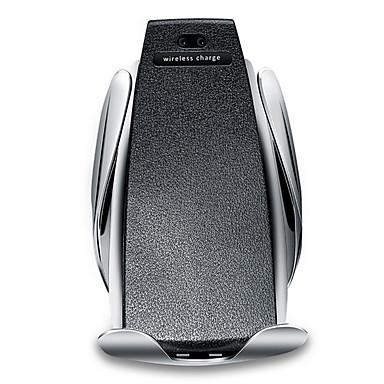 billige Bil Elektronikk-automatisk s5 bil trådløs mobiltelefon holder infrarød rask qi raskt bil klemme montering lufteventil for samsung huawei