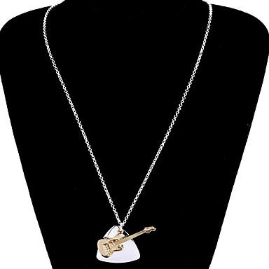 voordelige Dames Sieraden-Dames Hangertjes ketting Ketting Klassiek Gitaar Lucky Eenvoudig Koreaans Modieus Modern Kromi Zilver 67 cm Kettingen Sieraden 1pc Voor Dagelijks