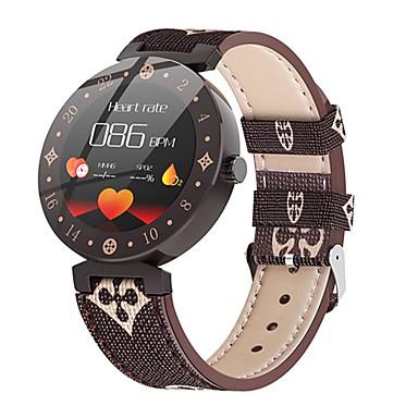 levne Pánské-Dámské Digitální hodinky Na běžné nošení Módní Bílá Hnědá PU kůže Digitální Bílá + káva Bílá Voděodolné Bluetooth Smart 30 m 1 sada Digitální