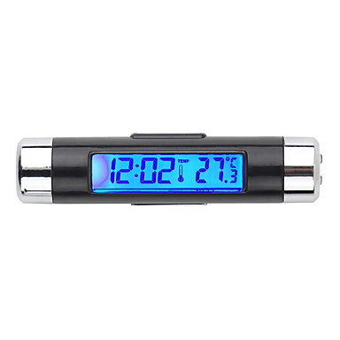 cheap Car Pendants & Ornaments-Car Electronic Clock Thermometer Car Luminous Clock Air Outlet Temperature Gauge Two-In-One Supplies Clip K01