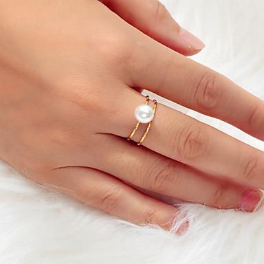 billige Motering-Dame Ring 1pc Gull Legering Kunstnerisk Luksus Unikt design Bryllup Engasjement Smykker Klassisk Drøm Kul Smuk