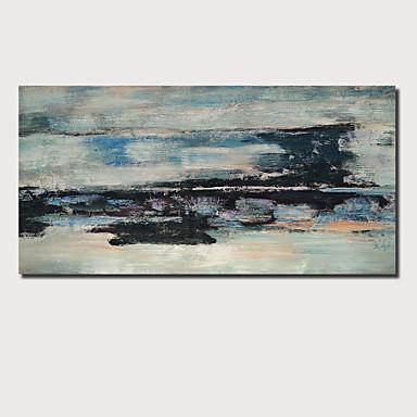 preiswerte überdimensional Farbe-Hang-Ölgemälde Handgemalte - Abstrakt Landschaft Zeitgenössisch Modern Fügen Innenrahmen