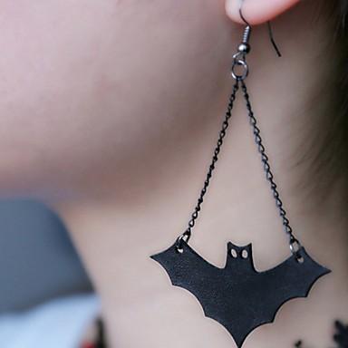 povoljno Modne naušnice-Žene Viseće naušnice Long Šišmiš Klasik Naušnice Jewelry Crn Za Halloween 1 par