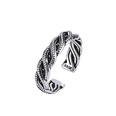 levne Pánské šperky-Pánské Dámské Prsten 1ks Stříbrná Měď Kulatý Vintage Základní Módní Dar Dovolená Šperky Vlna Cool
